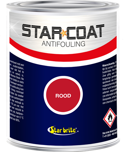 Star Coat Antifouling Rood - 1,0 Liter