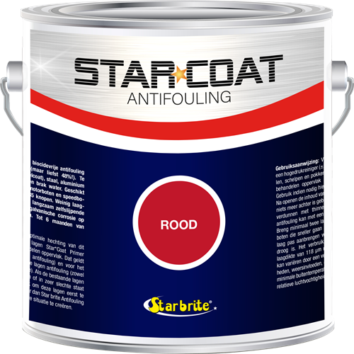 Star Coat Antifouling Rood - 3,0 Liter